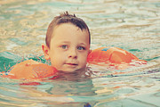 Boys Metal Prints - Floaties Metal Print by Laurie Search