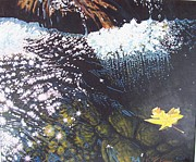 Waterscape Painting Metal Prints - Floating By Metal Print by Devon Featherstone
