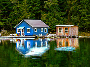 First Nations Prints - Floating Cabin Print by Robert Bales