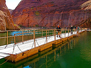 Southern Utah Digital Art Posters - Floating Dock to Rainbow Bridge Trail-UT Poster by Ruth Hager