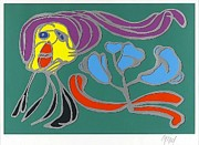 Karel Appel - Floating Flower Passion