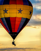 Hot Air Balloon Prints - Floating Free  Print by Bob Orsillo