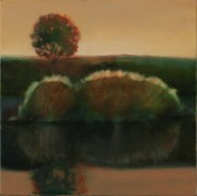 Green Framed Prints Framed Prints - Floating Island Framed Print by Cap Pannell