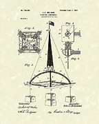Williams Drawings Prints - Floating Lighthouse 1902 Patent Art Print by Prior Art Design