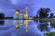 Mario Legaspi Metal Prints - Floating Mosque Metal Print by Mario Legaspi