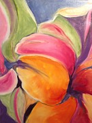 Floating Petals Print by Karen Carmean