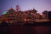 Honk Prints - Floating Restaurant in Aberdeen Hong Kong Print by Anna Lisa Yoder