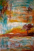 Coach Mixed Media - Floating Tree of LIfe  by Larri A  Peak