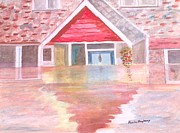 Floods Paintings - Floods UK 2012 by Paula Maybery