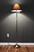 Bright Lights Posters - Floor lamp Poster by Elena Elisseeva