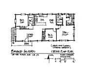Floor Drawings Framed Prints - Floor Plan 1 Framed Print by Albert Andres
