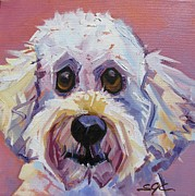 Carter Painting Originals - Flora Dora Fuzzy Face by Sarah Gayle Carter
