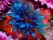 Stuart Turnbull Metal Prints - Floral abstract Color explosion Metal Print by Stuart Turnbull