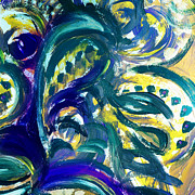 Irina Sztukowski - Floral Abstract Dancing Leaves