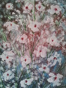 Flower Design Drawings - Floral abstract by Linda Guerette