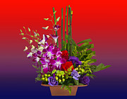Chuck Staley Posters - Floral Arrangement Poster by Chuck Staley