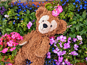 Disney Bear Photos - Floral Bear by Thomas Woolworth