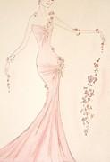 Floral Cascade  Print by Christine Corretti
