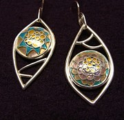 Original Design Jewelry - Floral Cloisonnes by Beverly Fox