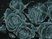 Photo-manipulation Prints - Floral Constellations Print by Wendy J St Christopher