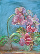 League Painting Prints - Floral Freedom Print by Patricia Kimsey Bollinger