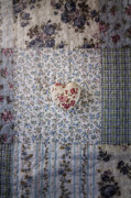 Plaid Prints - Floral Heart Print by Joana Kruse