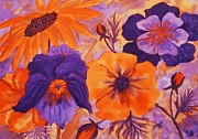 Ellen Levinson - Floral Images in Orange...
