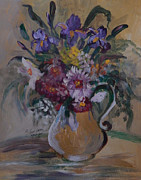 Most Viewed Framed Prints - Floral In A Vase Framed Print by Anna Sandhu Ray