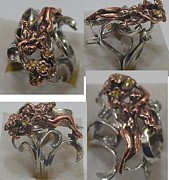 Nouveau Jewelry - Floral lady ring by Michelle  Robison