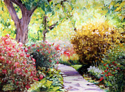 Pastel Paintings - Floral Path by Abbie Groves