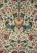 Featured Tapestries - Textiles Metal Prints - Floral Pattern Metal Print by William Morris