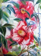 Oil Prints - Floral Print Print by Nancy Stutes
