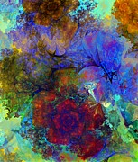 Flowers - Floral Psychedelic by David Lane
