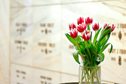 Floral Rememberance At Mausoleum Print by Amy Cicconi