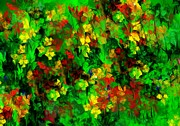 Botanical Fantasy Series - Floral Riot by David Lane