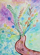 Flower Display Prints - Floral Stream Print by Sonali Gangane