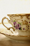 Vintage Teacup Prints - Floral Tea Print by Margie Hurwich