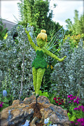 Tinker Bell Photo Prints - Floral Tinker Bell Print by Thomas Woolworth