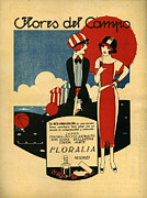 Fragrances Art - Floralia 1919 1910s Spain Cc Umbrellas by The Advertising Archives