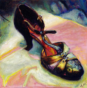 Shoe Paintings - Florence by Ann Moeller Steverson