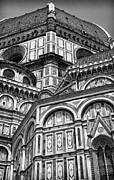 Belltower Posters - Florence Cathedral and Brunelleschis Dome Poster by Melany Sarafis