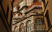 Bob Christopher Prints - Florence Duomo Detail 1 Print by Bob Christopher
