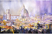 Dome Paintings - Florence Duomo by Ryan Fox