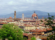 Italian Landscapes Photo Framed Prints - Florence Framed Print by Ellen Henneke