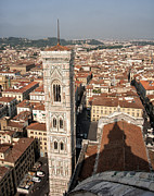Mancave Photos Prints - Florence from the Top of Brunelleschis Dome Print by Melany Sarafis
