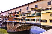 Florence Italy Ponte Vecchio Print by Jon Berghoff