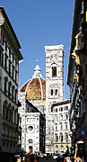 Watercolor Map Photos - Florence Italy Santa Maria Fiori Duomo by Irina Sztukowski