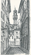 Florence Drawings Framed Prints - Florence Framed Print by Katerina Izotova
