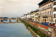 Europe Digital Art - Florence on the Arno  by Linda  Parker