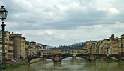 Ponte Vocchio Framed Prints - Florence. Ponte Vecchio Framed Print by Anna and Sergey